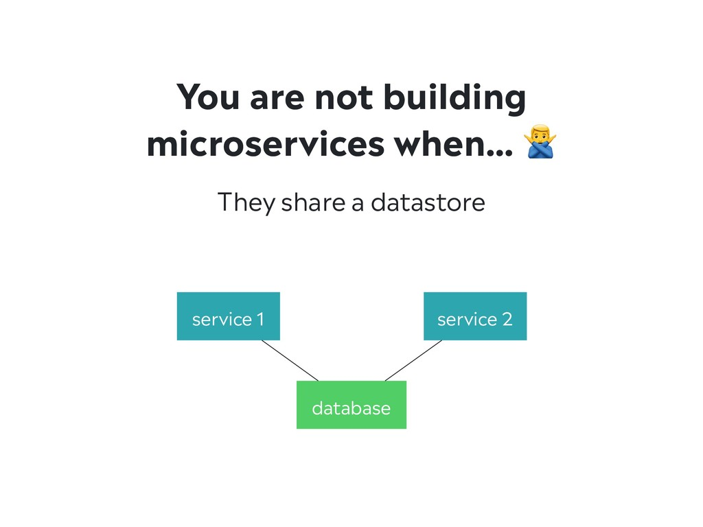 They share a datastore You are not building mic...