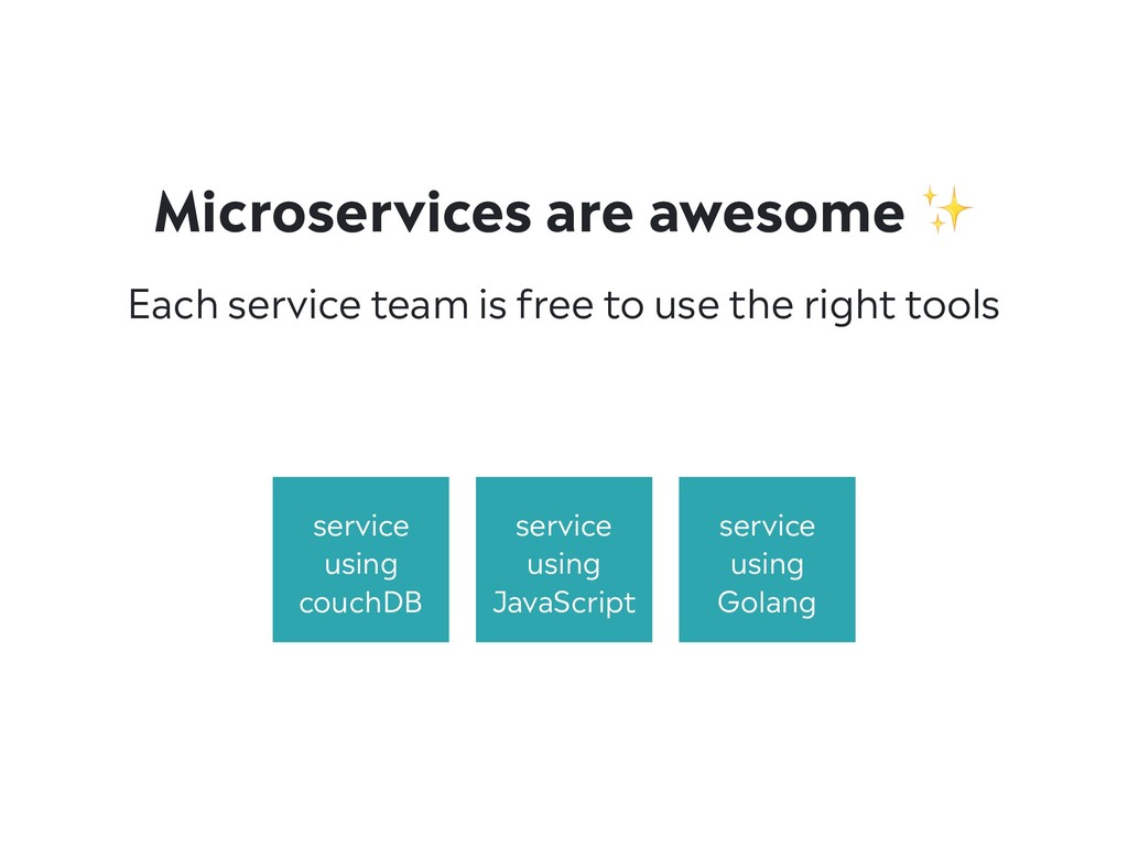Microservices are awesome ✨ Each service team i...