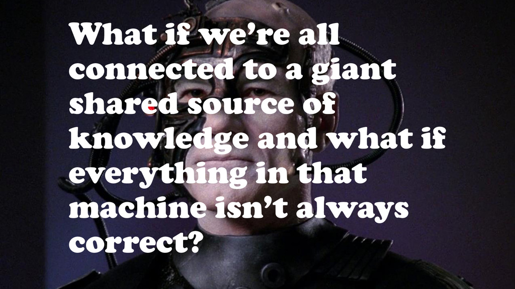 What if we're all connected to a giant shared s...