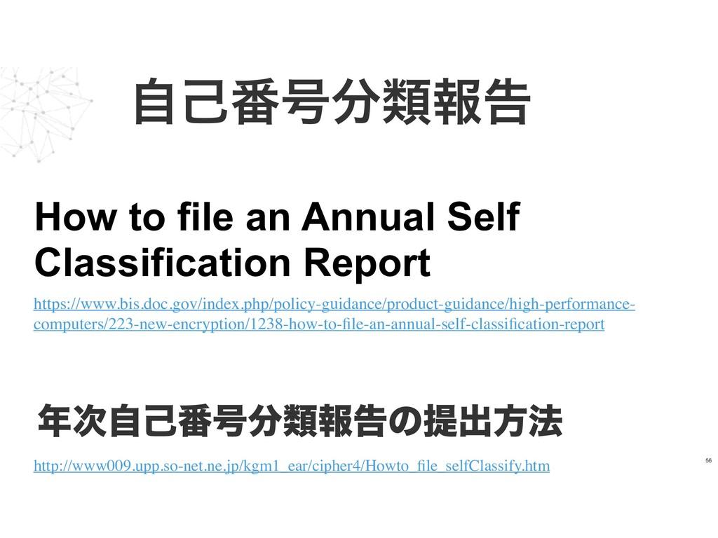 ࣗݾ൪߸ྨใࠂ 56 How to file an Annual Self Classifi...