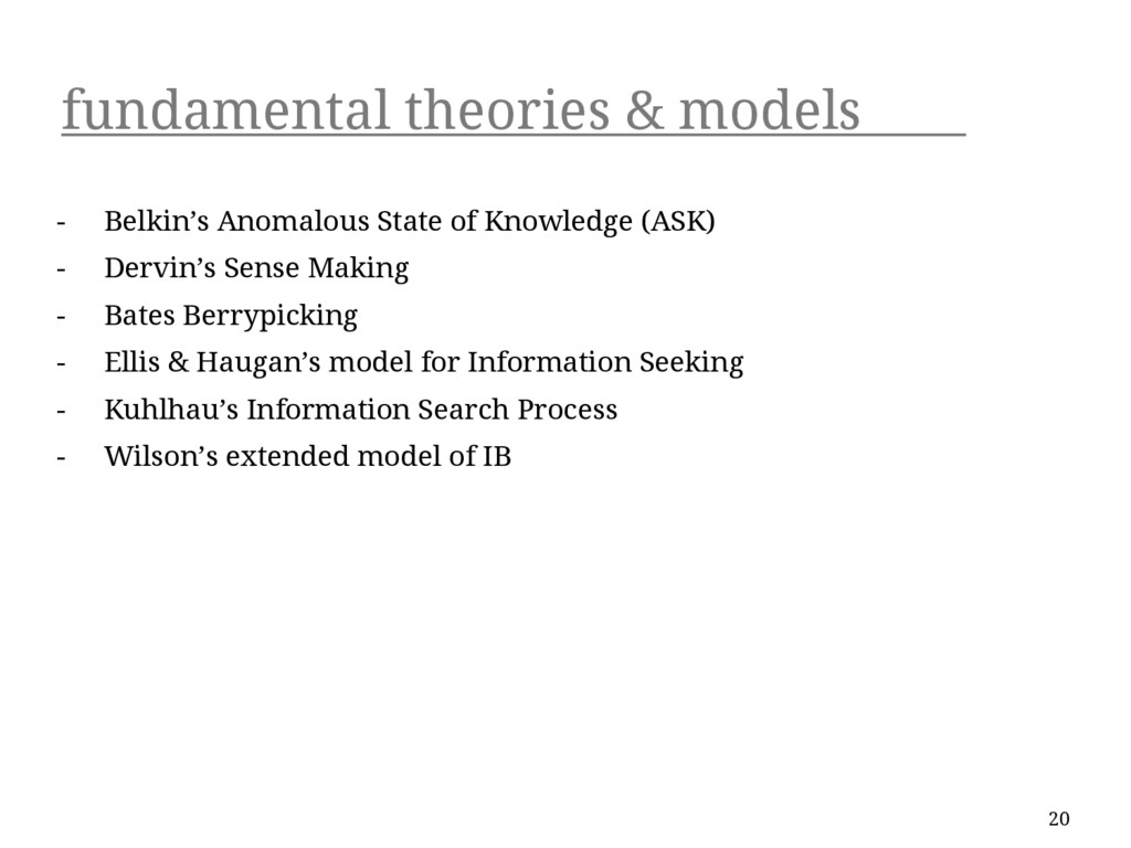 fundamental theories & models - Belkin's Anomal...