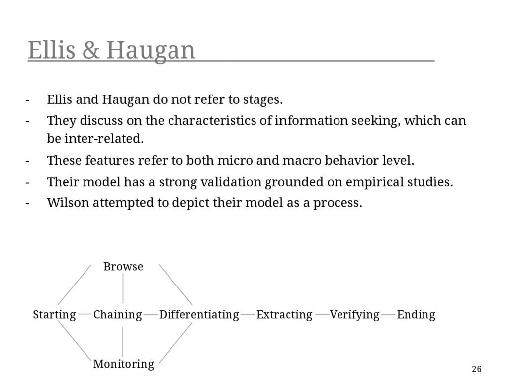 Ellis & Haugan - Ellis and Haugan do not refer ...