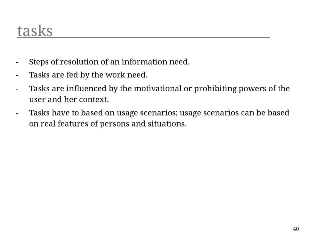 tasks - Steps of resolution of an information n...