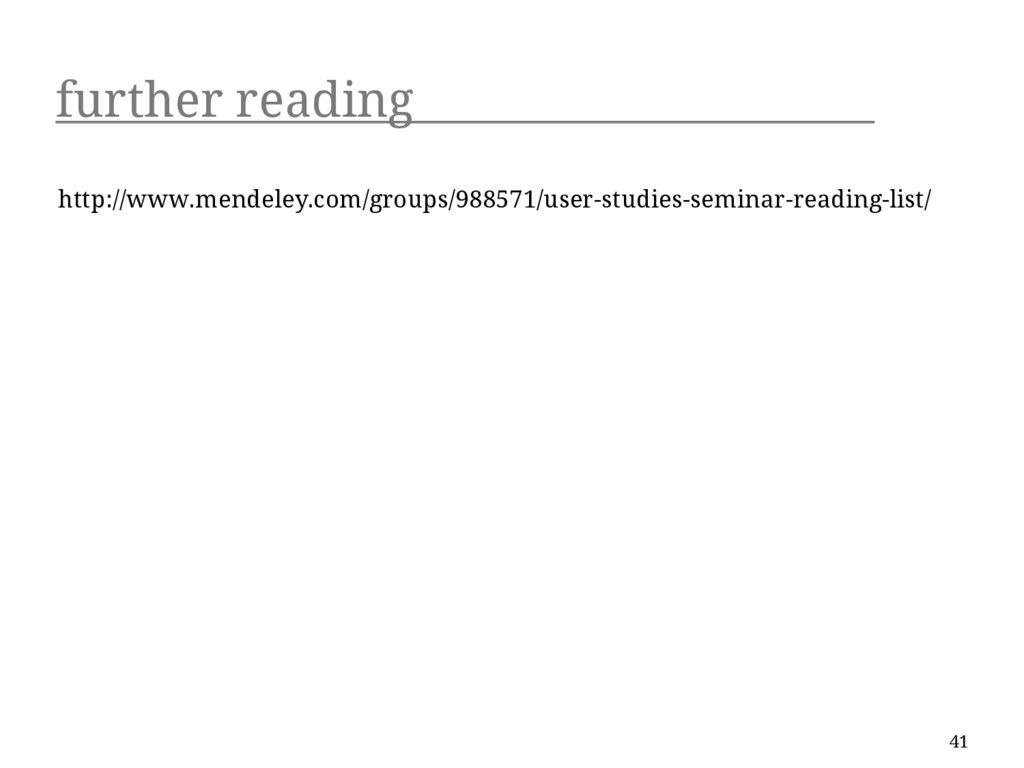 further reading http://www.mendeley.com/groups/...