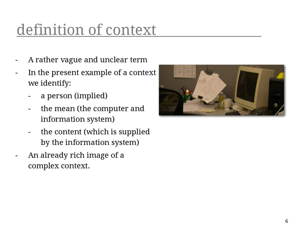 definition of context - A rather vague and uncl...