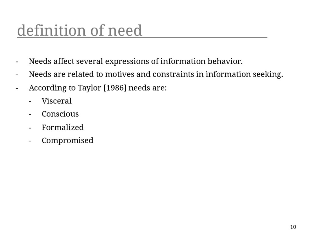 definition of need - Needs affect several expre...