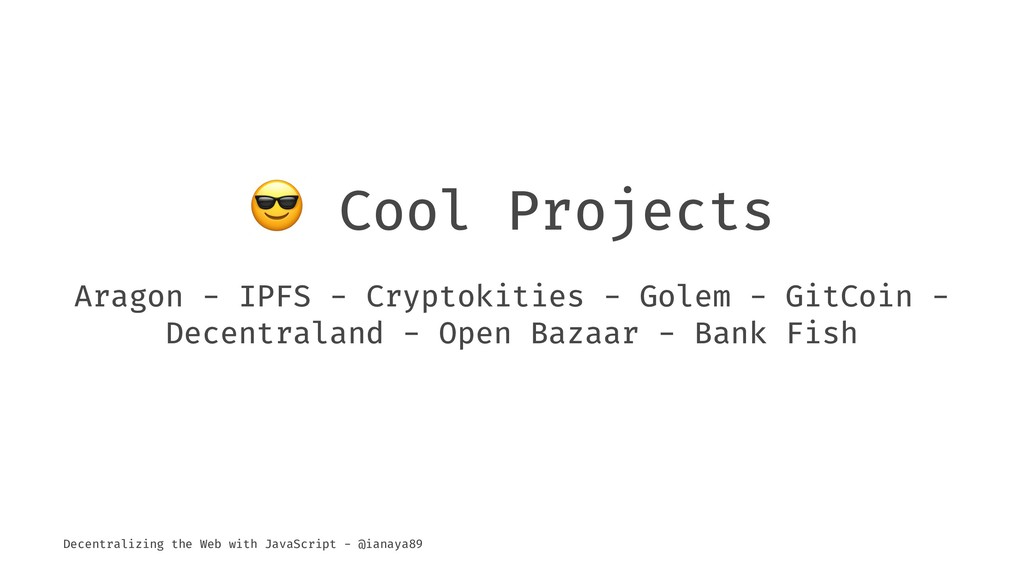 ! Cool Projects Aragon - IPFS - Cryptokities - ...