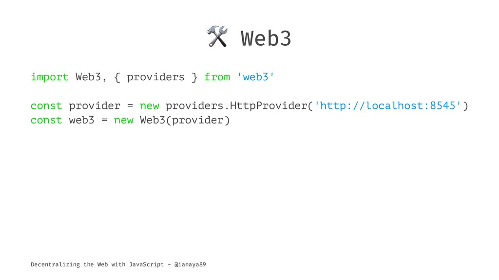 ! Web3 import Web3, { providers } from 'web3' c...