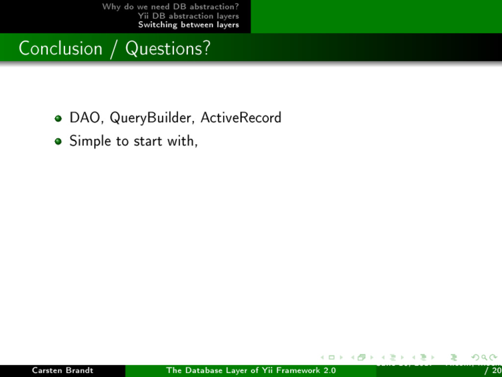 Why do we need DB abstraction? Yii DB abstracti...