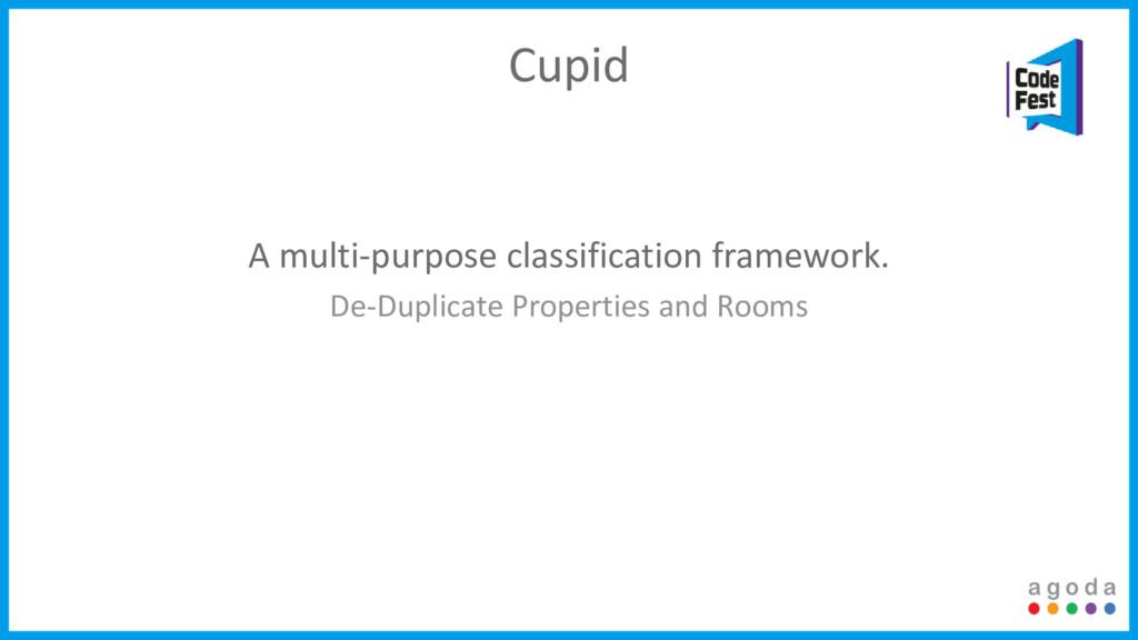 A multi-purpose classification framework. De-Du...