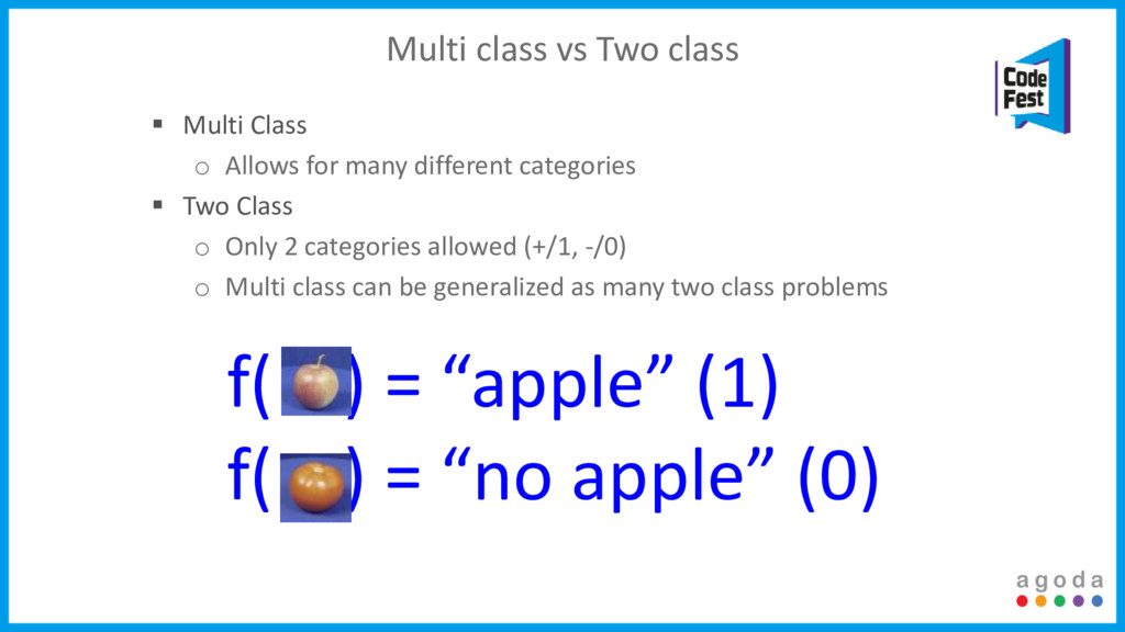 Multi class vs Two class  Multi Class o Allows...