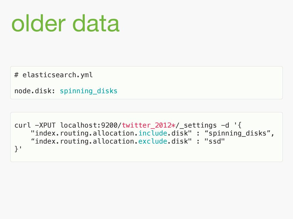 older data # elasticsearch.yml ! node.disk: spi...