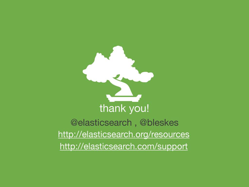 thank you! http://elasticsearch.com/support @el...