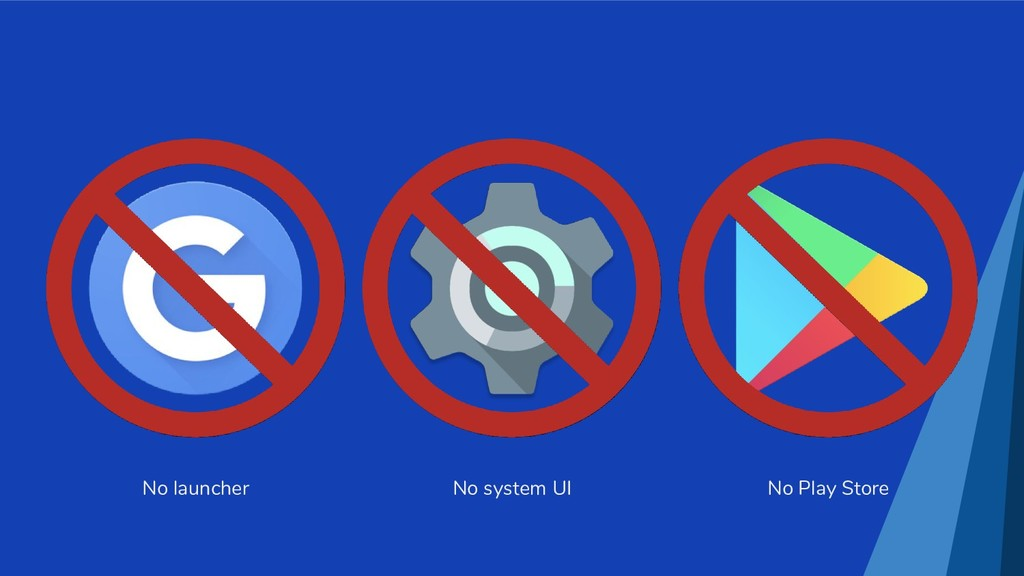 No launcher No system UI No Play Store