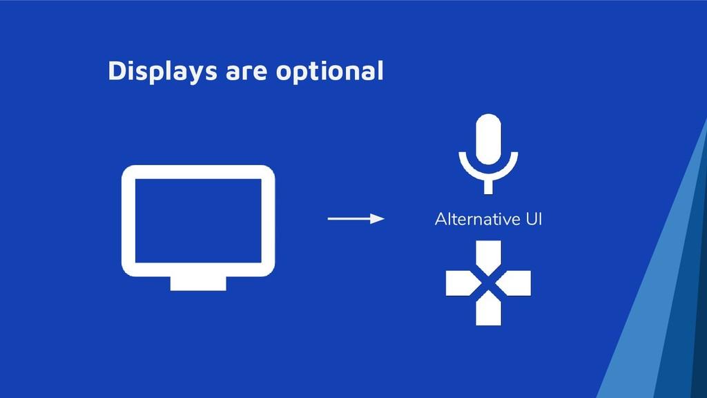 Displays are optional Alternative UI