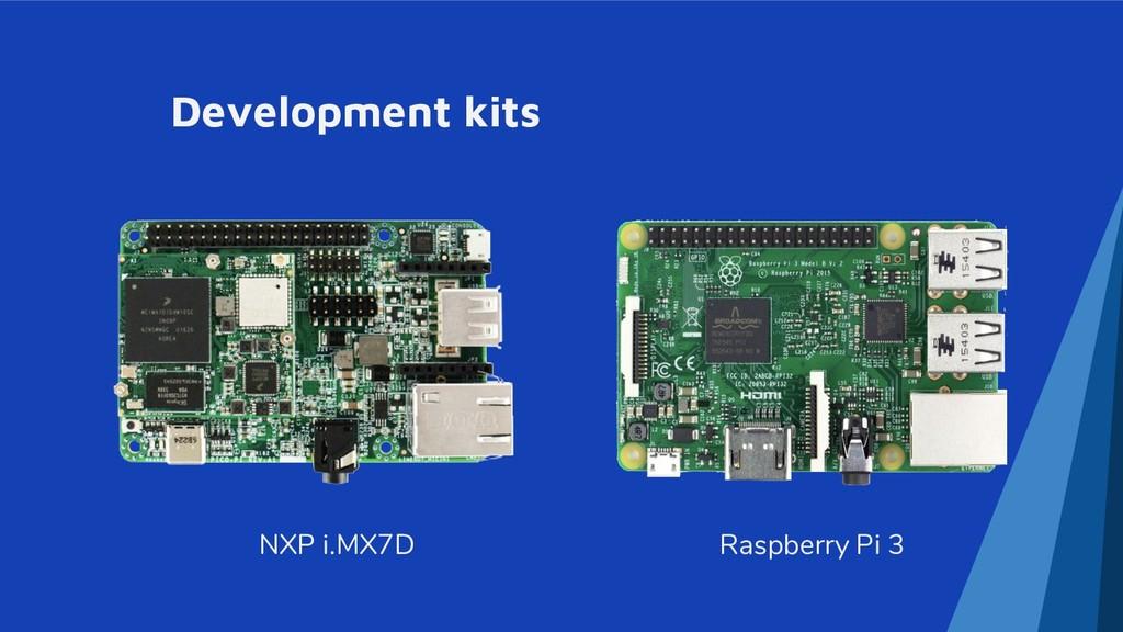 Development kits Raspberry Pi 3 NXP i.MX7D
