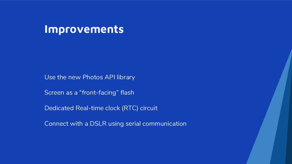 Improvements Use the new Photos API library Scr...