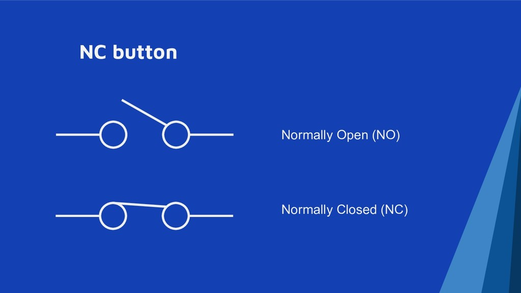NC button Normally Open (NO) Normally Closed (N...