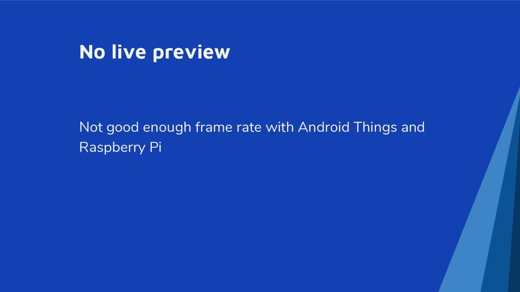 No live preview Not good enough frame rate with...