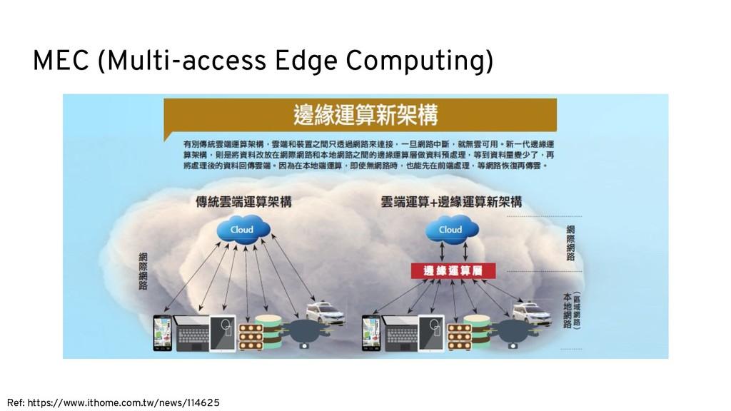 MEC (Multi-access Edge Computing) Ref: https://...