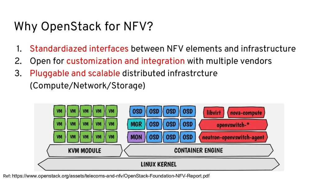 Why OpenStack for NFV? 1. Standardiazed interfa...
