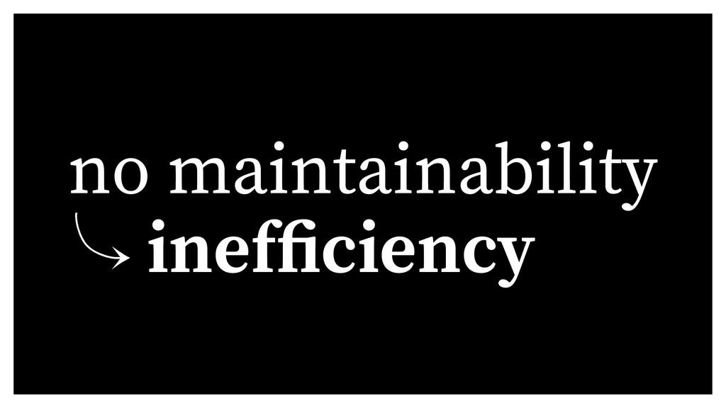 no maintainability 䡿 inef ciency