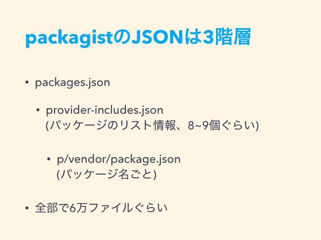 packagistͷJSON3֊ • packages.json • provider-i...