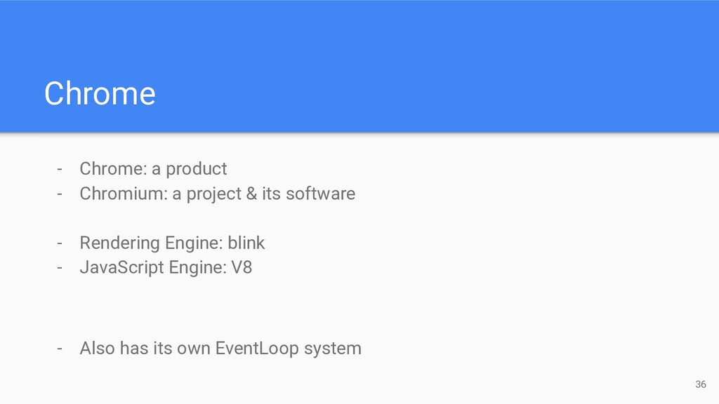 - Chrome: a product - Chromium: a project & its...