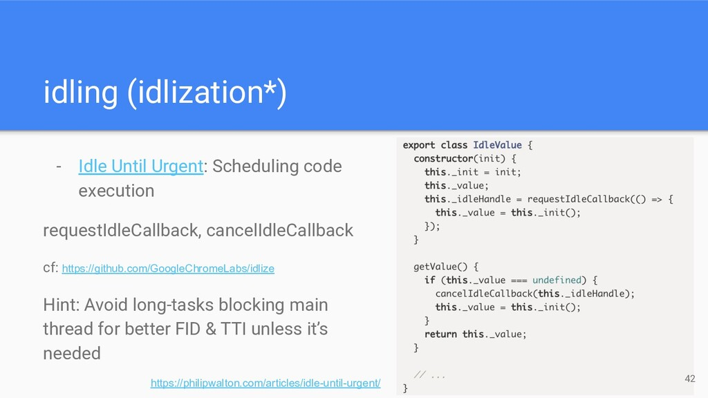 - Idle Until Urgent: Scheduling code execution ...