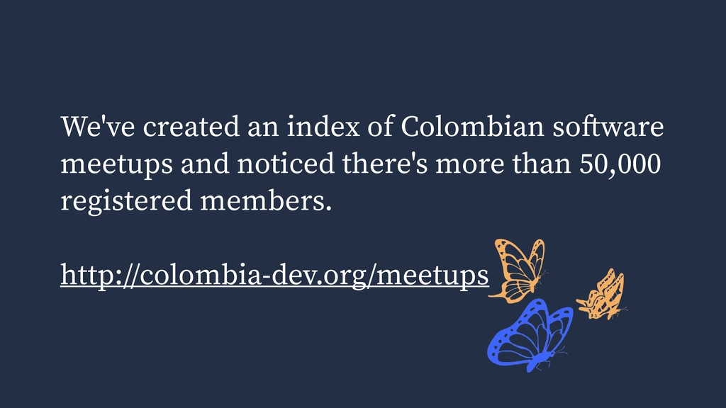 We've created an index of Colombian software me...
