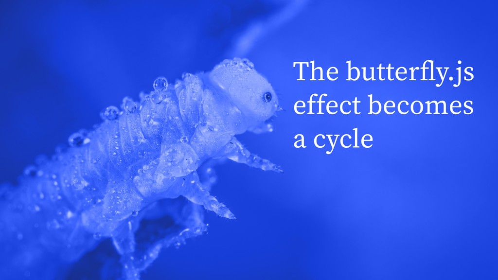 The butterfly.js effect becomes a cycle