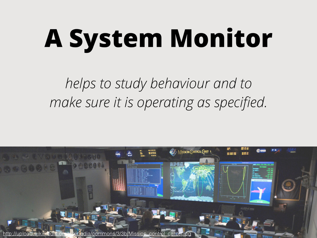 A System Monitor helps to study behaviour and t...