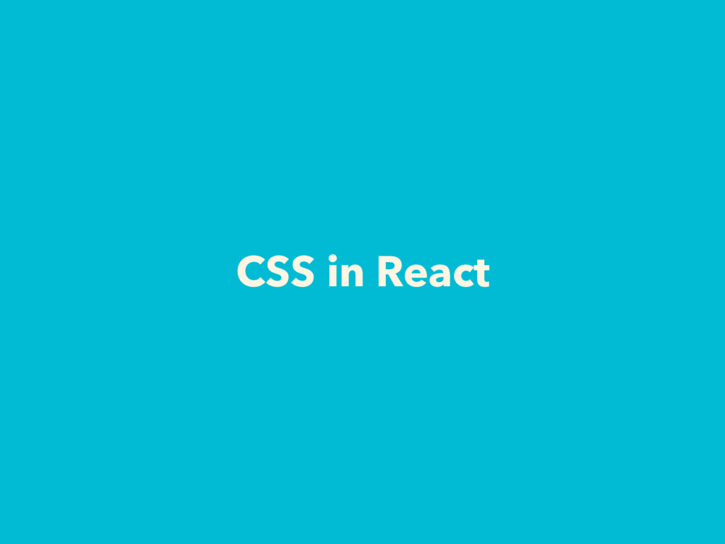 CSS in React