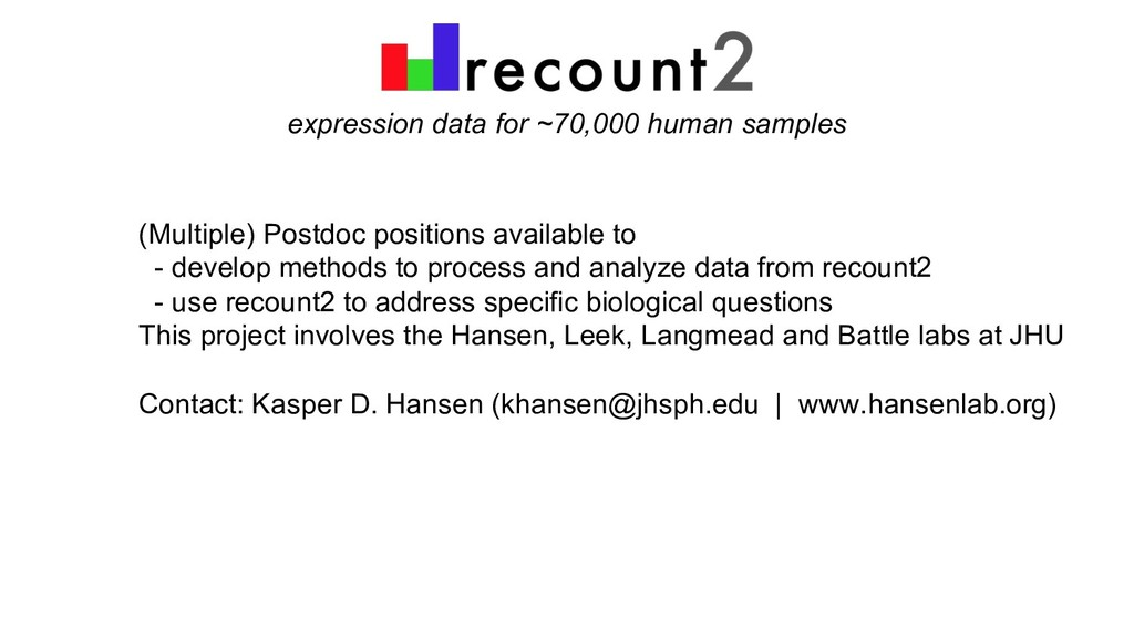 expression data for ~70,000 human samples (Mult...