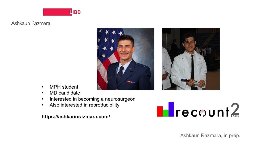 Ashkaun Razmara • MPH student • MD candidate • ...