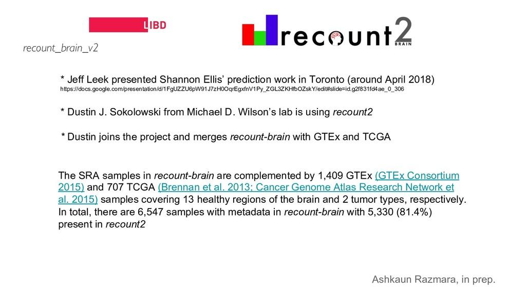 * Jeff Leek presented Shannon Ellis' prediction...