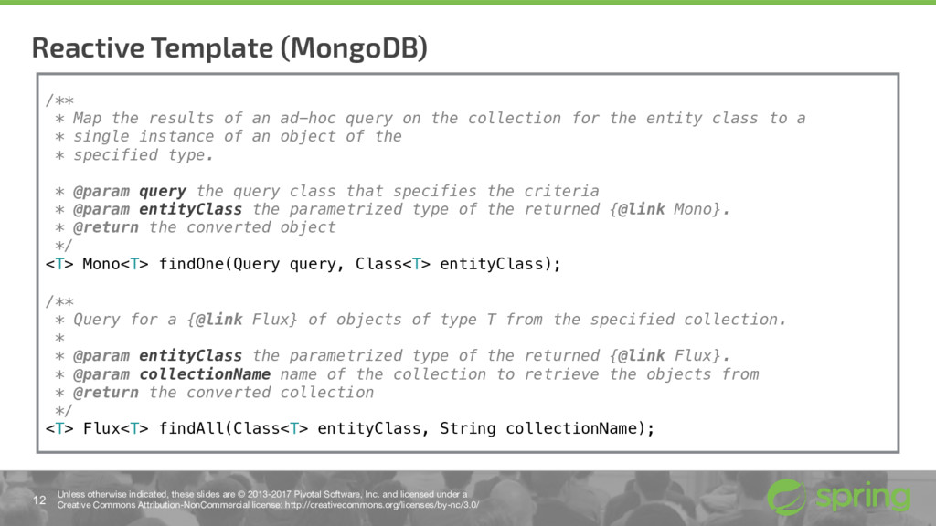 Reactive Template (MongoDB) 12 Unless otherwise...