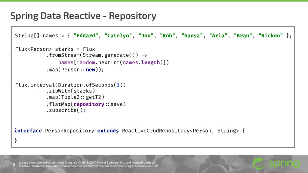 Spring Data Reactive - Repository 15 Unless oth...
