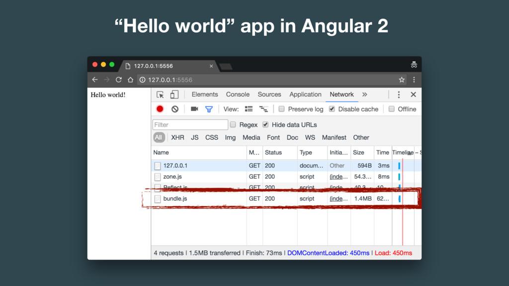 """Hello world"" app in Angular 2"