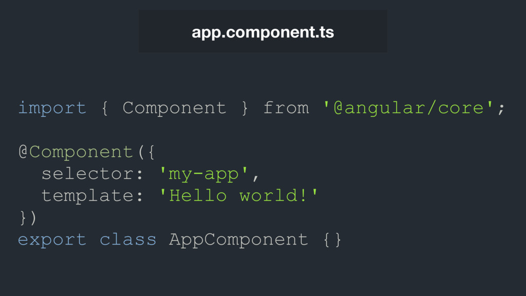 app.component.ts import { Component } from '@an...