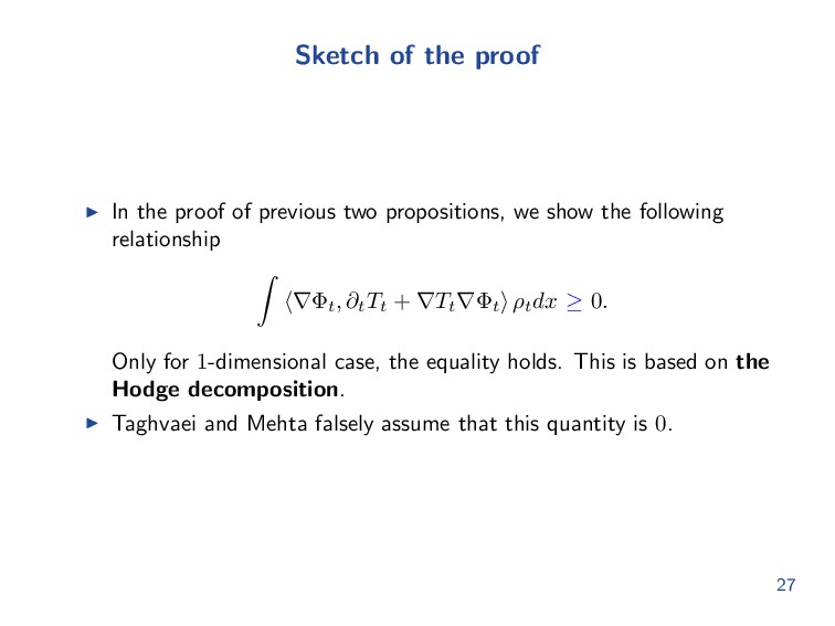 Sketch of the proof In the proof of previous tw...