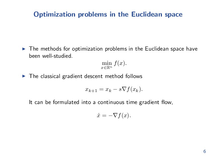 Optimization problems in the Euclidean space Th...
