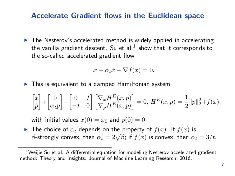 Accelerate Gradient flows in the Euclidean space...