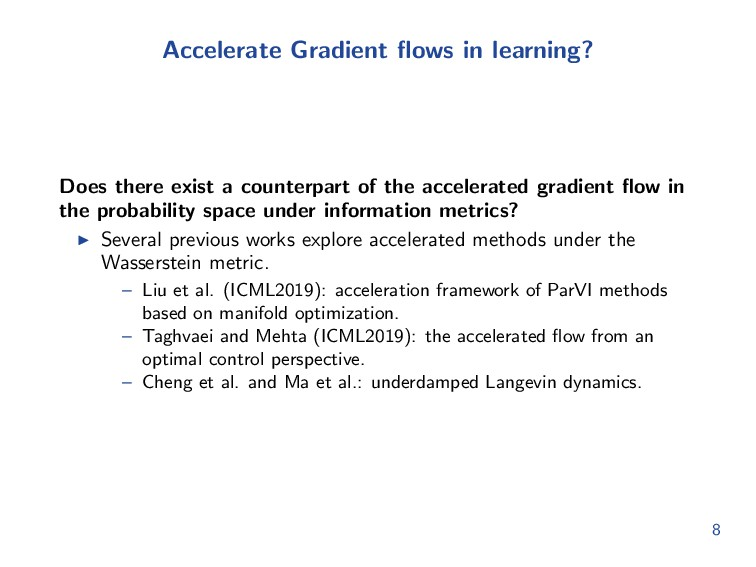 Accelerate Gradient flows in learning? Does ther...