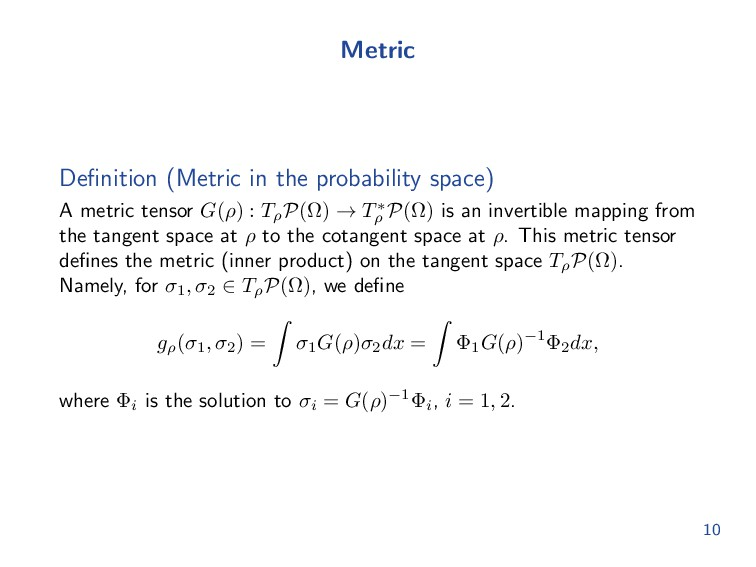 Metric Definition (Metric in the probability spa...