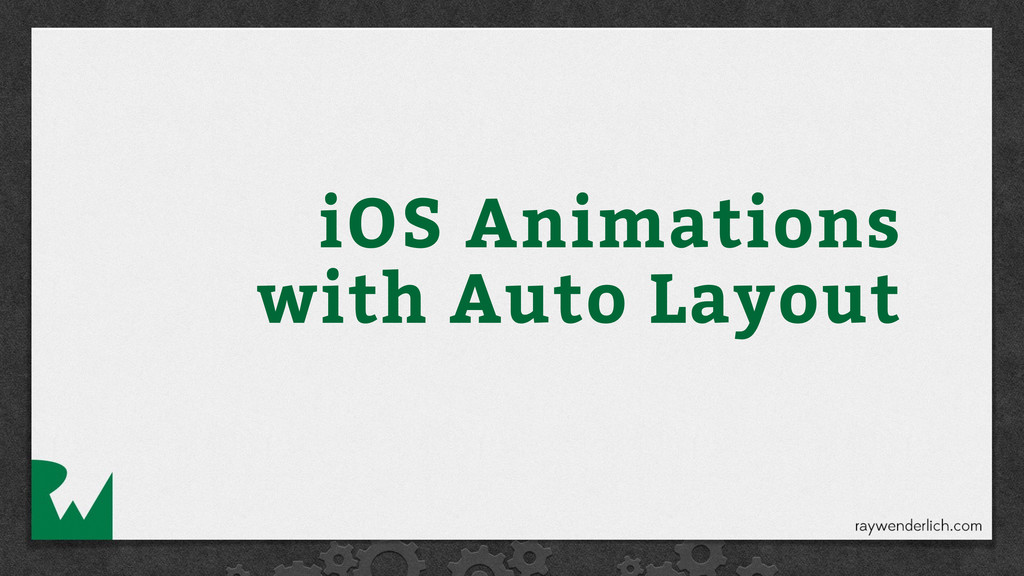 iOS Animations with Auto Layout