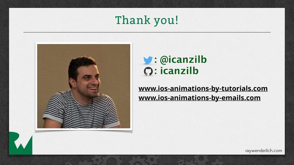 Thank you! : @icanzilb : icanzilb www.ios-anima...