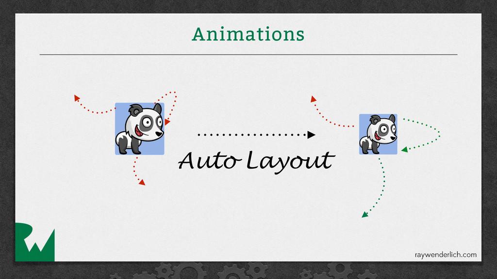 Animations Auto Layout