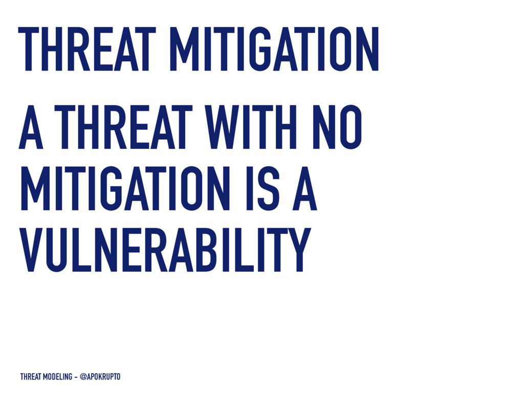 THREAT MODELING - @APOKRUPTO A THREAT WITH NO M...
