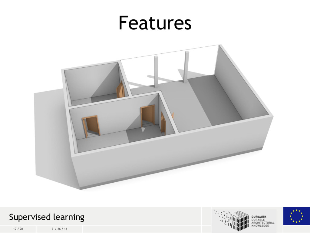 12 / 20 2 / 26 / 13 Features Supervised learning